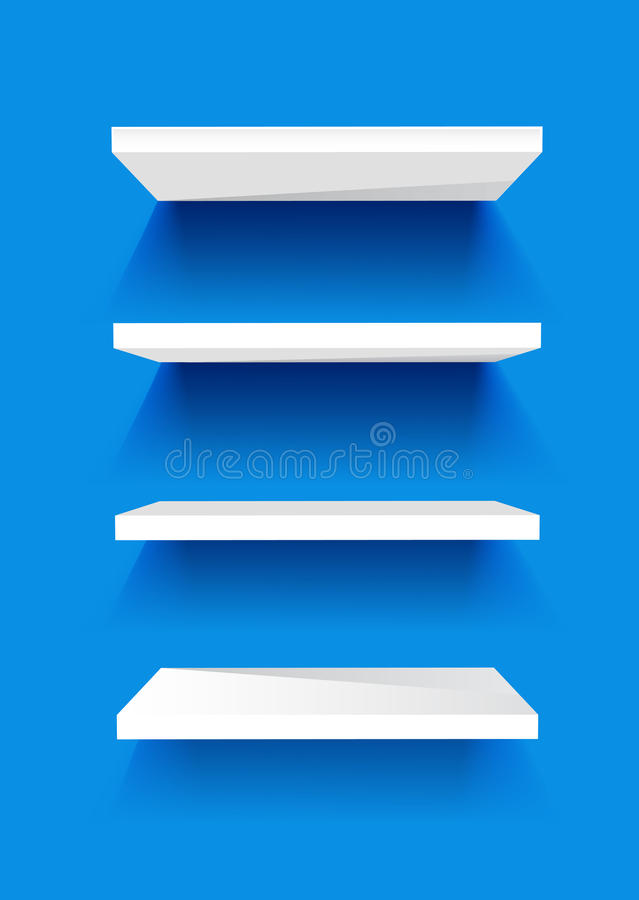 Download White Book Shelves stock vector. Image of space, frame - 17437653