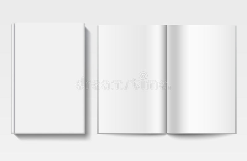 White book template stock vector. Illustration of brochure - 58800226