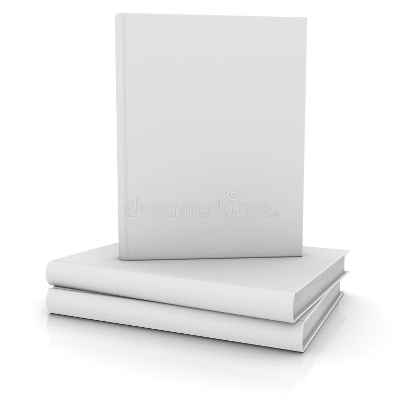 White books vector illustration