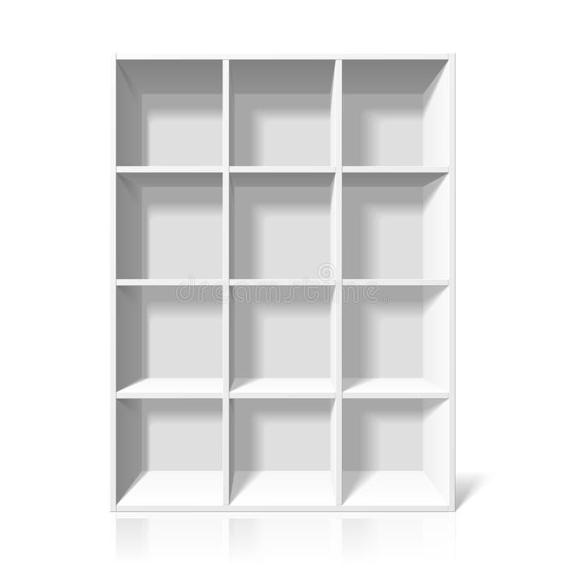 Download White bookshelf stock vector. Image of modern, shelf - 19040863