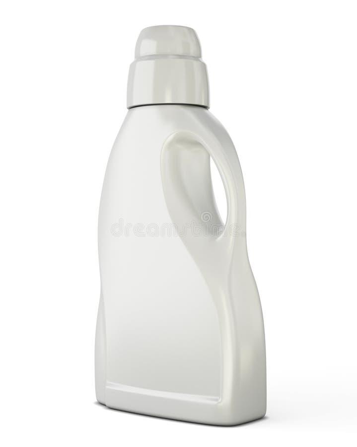 White bottle template for detergent stock illustration