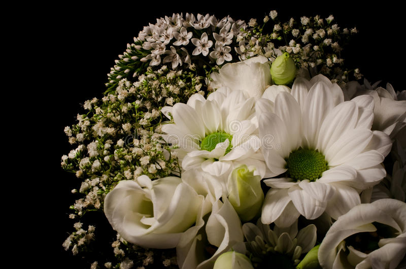 White bouquet royalty free stock image