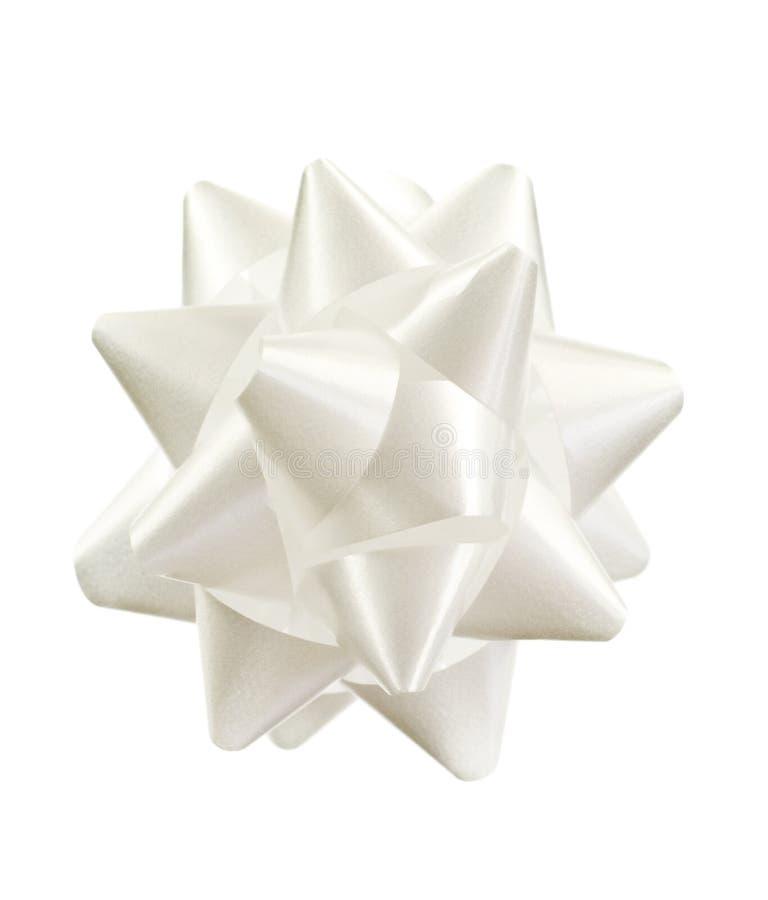 white bow fotografia stock