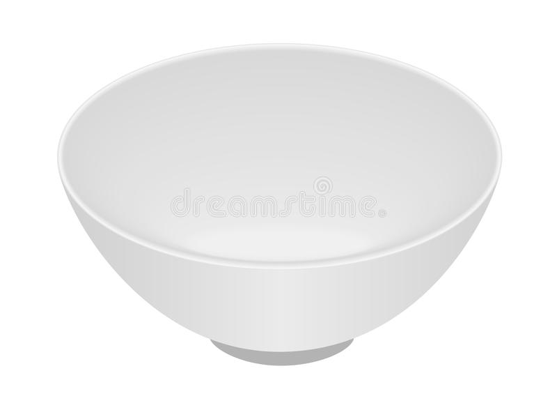 White bowl isolated royalty free illustration