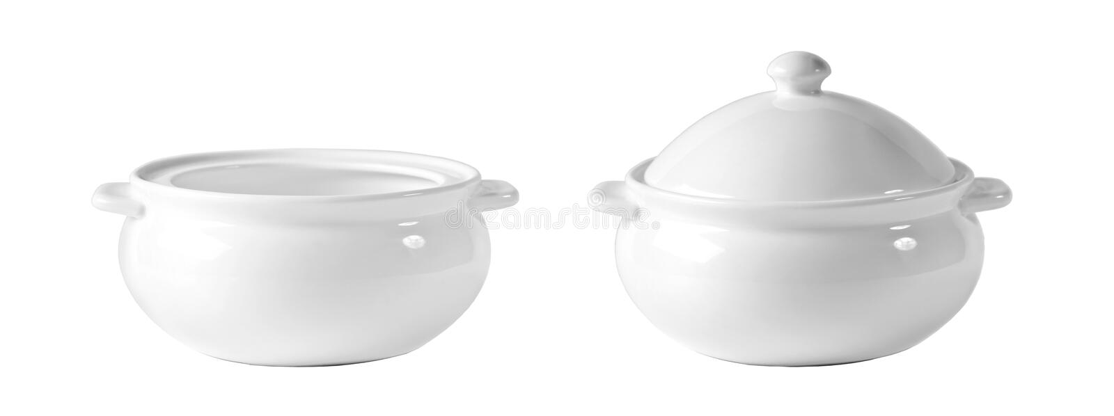 White bowl isolated royalty free stock images