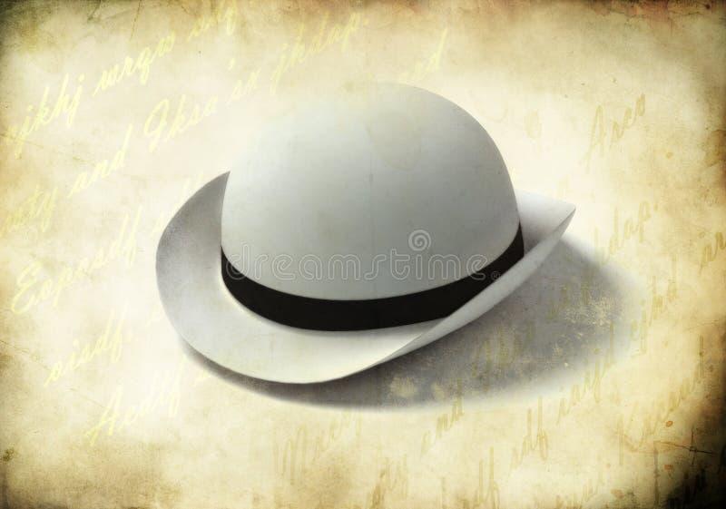 White bowler cap