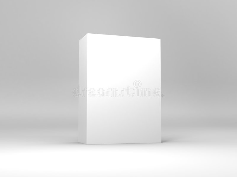 White Box. Showcased generic white box. You can add your own graphics to the face and side of the box