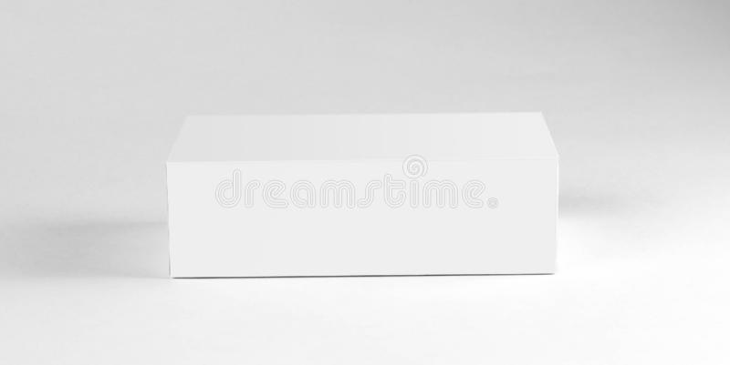 White box. Close up. Isolated on white background stock photography