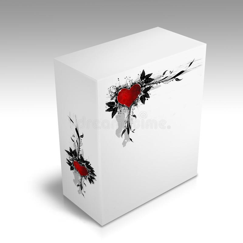 Download White Box With A Heart Design Stock Illustration - Illustration of hearts, white: 8890108