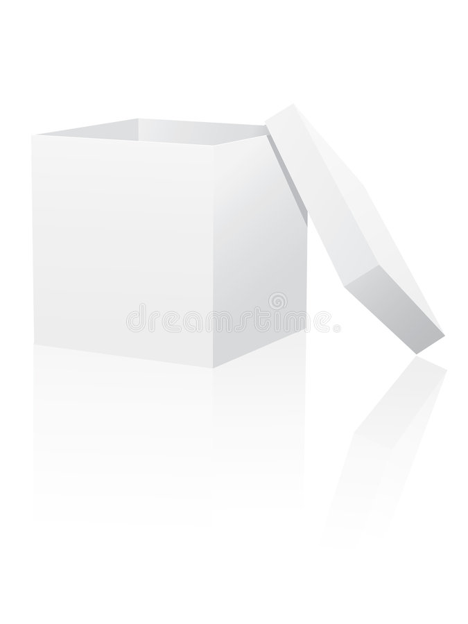 Download White box with lid stock vector. Illustration of carton - 8840972