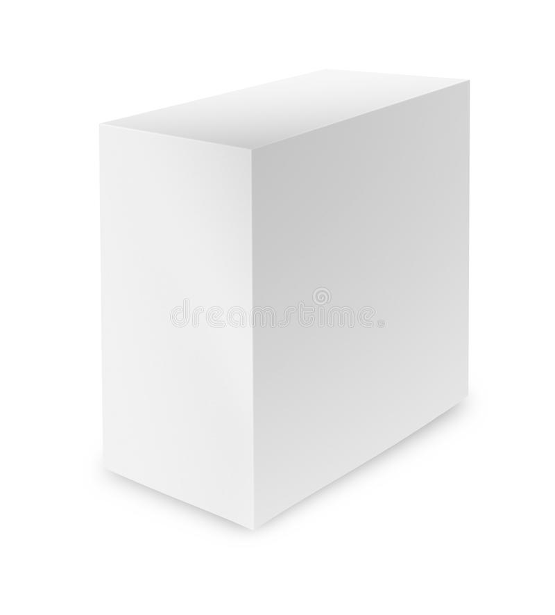 White box on white background with clipping path. Close up of a white box on white background with clipping path vector illustration