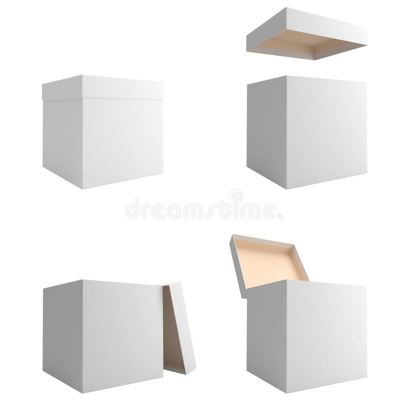 Download White boxes stock illustration. Image of packer, image - 22994227