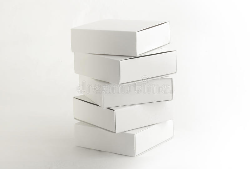 White boxes royalty free stock photography