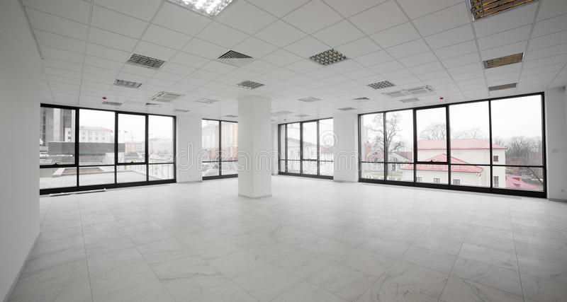 White brand new interior of office royalty free stock image