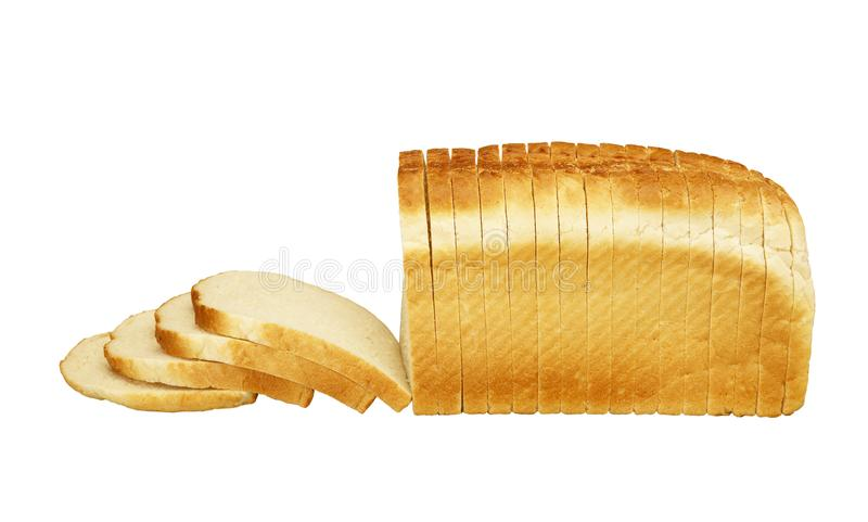 WHITE BREAD ON WHITE BACKGROUND stock photos
