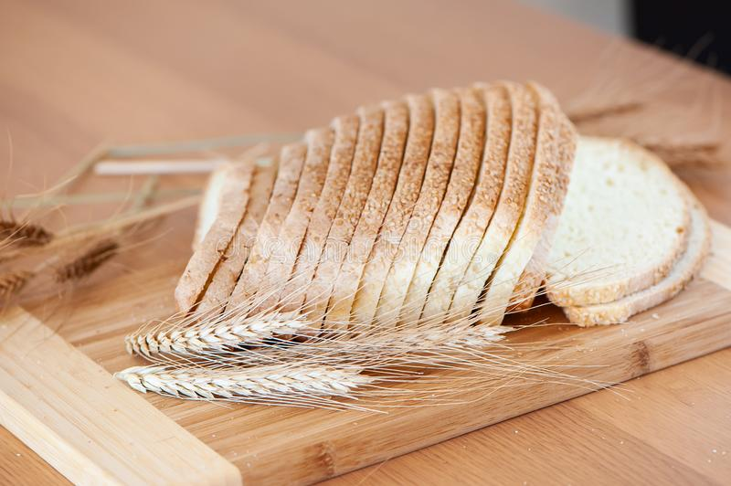 White bread and ears, sliced bread royalty free stock photo