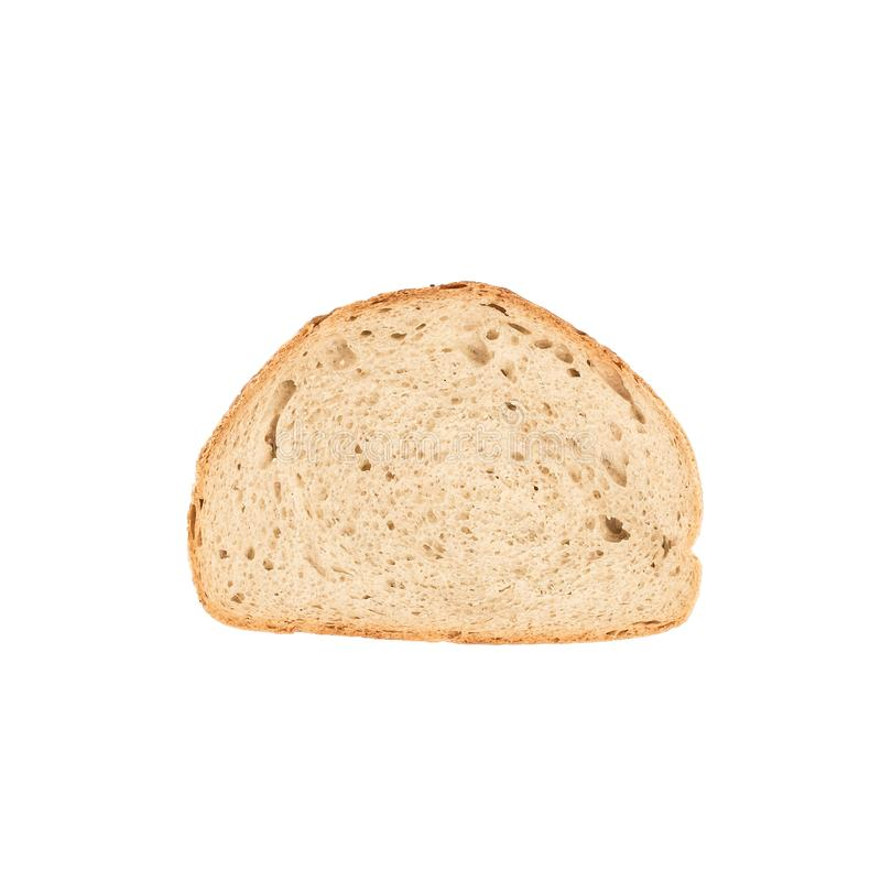 White bread loaf sliced piece isolated on white background royalty free stock images