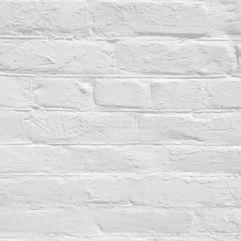 White brick background. Brick wall texture and background. Vector illustration stock illustration