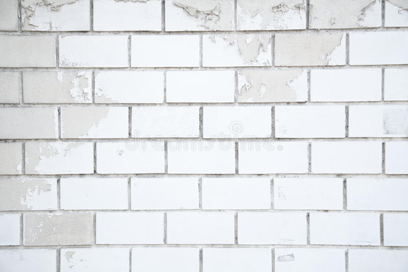 White brick background, closeup of old brick wall. stock images