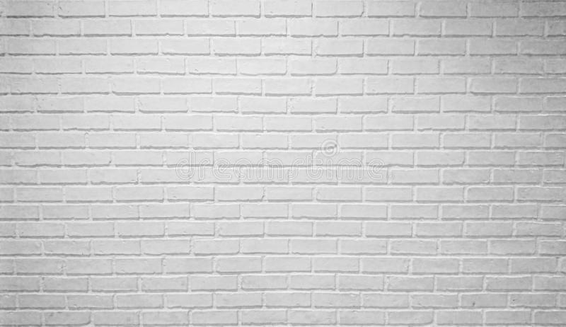 White brick horizontal wallpaper background texture vintage loft style royalty free stock photos