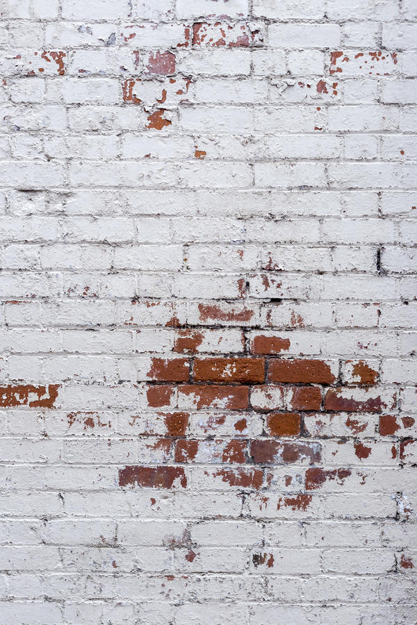 White brick rustic wall background stock image
