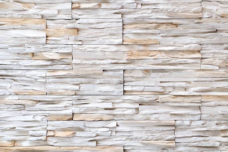 White brick stone wall texture stock photography