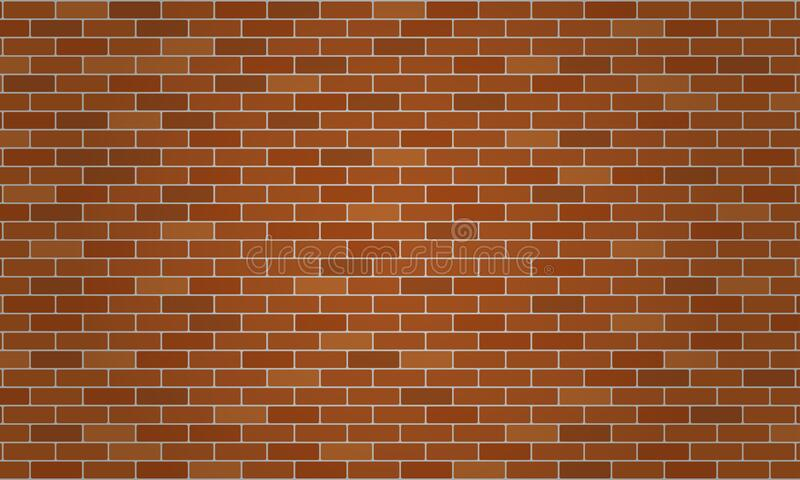 Light brown. Dark brown and orange brick wall. Wallpaper and texture background. Vector illustration. EPS10 vector illustration
