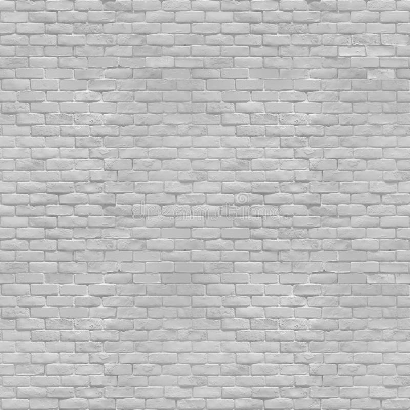 White brick wall abstract seamless texture. White brick wall. Abstract architectural grunge background. Seamless texture royalty free stock photography