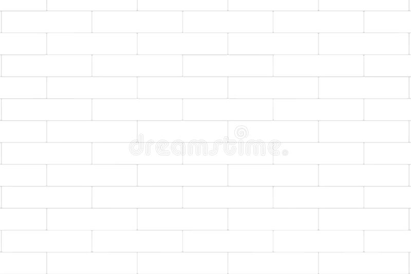 White brick wall abstract background. Texture of bricks. Vector illustration stock illustration