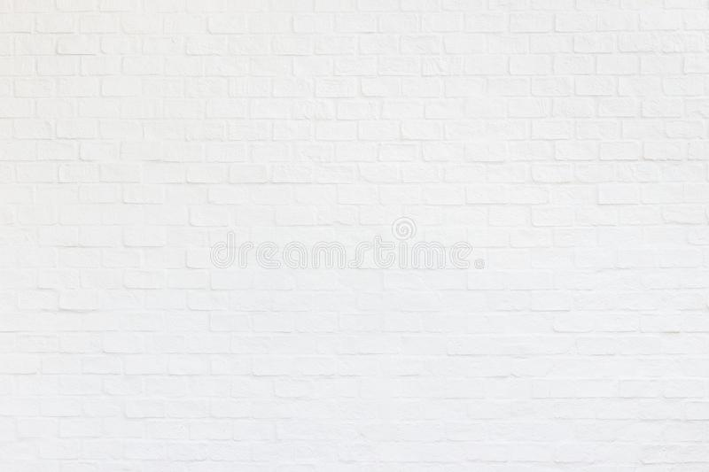 White brick wall. Abstract decoration wall texture and background. For wallpaper design and backdrop. Exterior white brick wall. Abstract decoration wall texture stock image