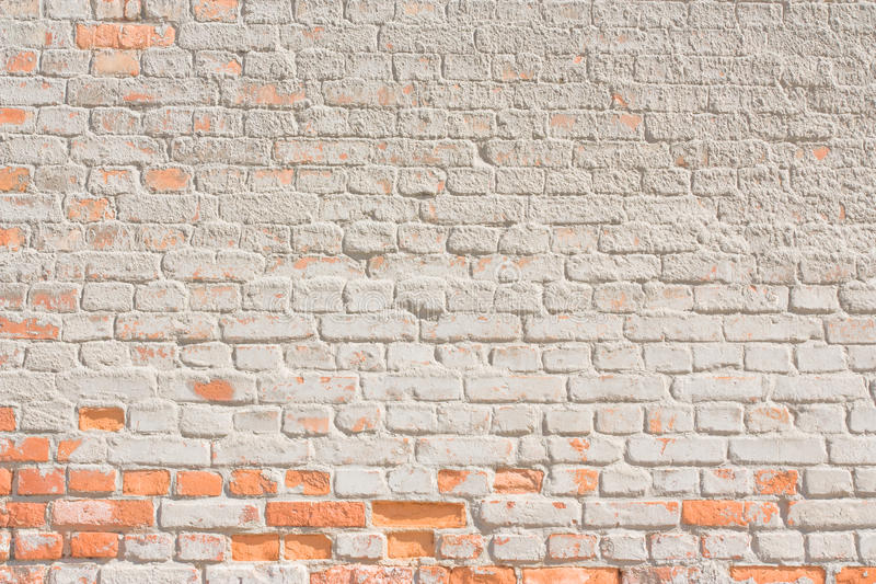 White brick wall background or texture stock photo