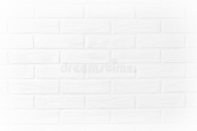 White brick wall horizontal photo wallpaper in the room. Scandinavian. Loft. Nordic stock photography