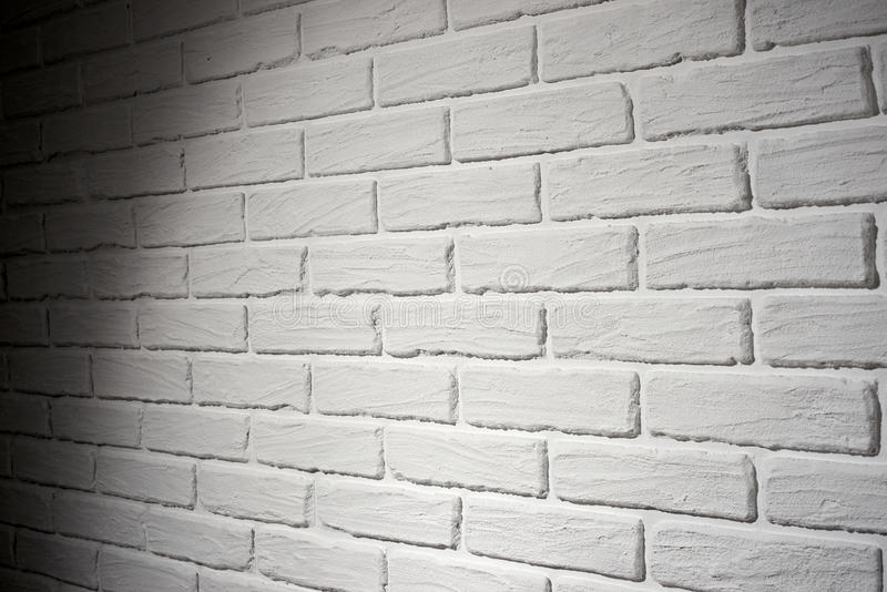 Download White Brick Wall With Light Effect And Shadow Abstract Background Photo Side View