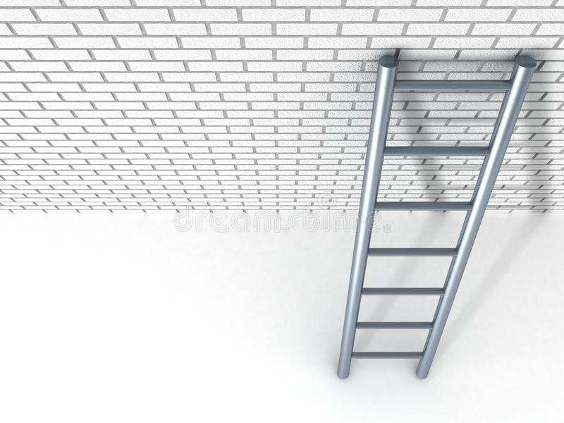 Download White Brick Wall And Metal Ladder Stock Illustration - Image: 23147575