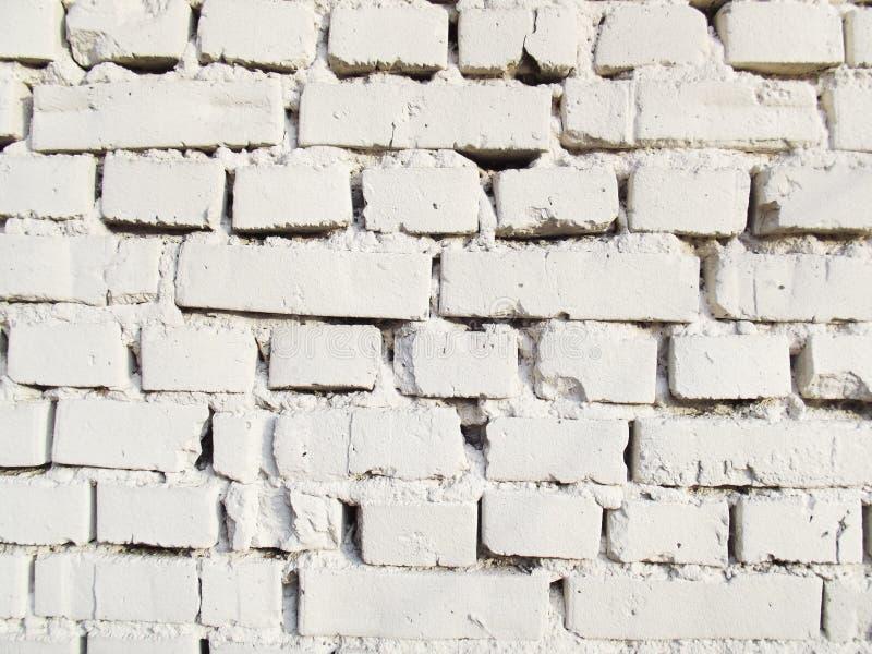 White brick wall. stock photo