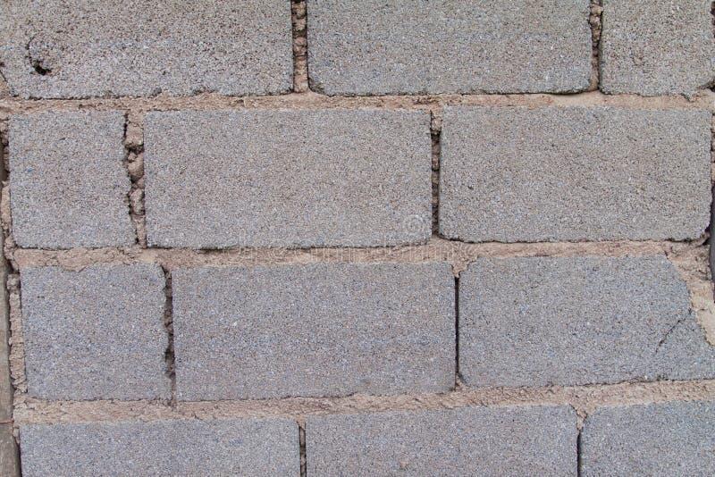 White Brick Wall Pattern. Mason construction stock image