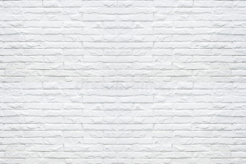 White brick wall pattern texture background. stock image