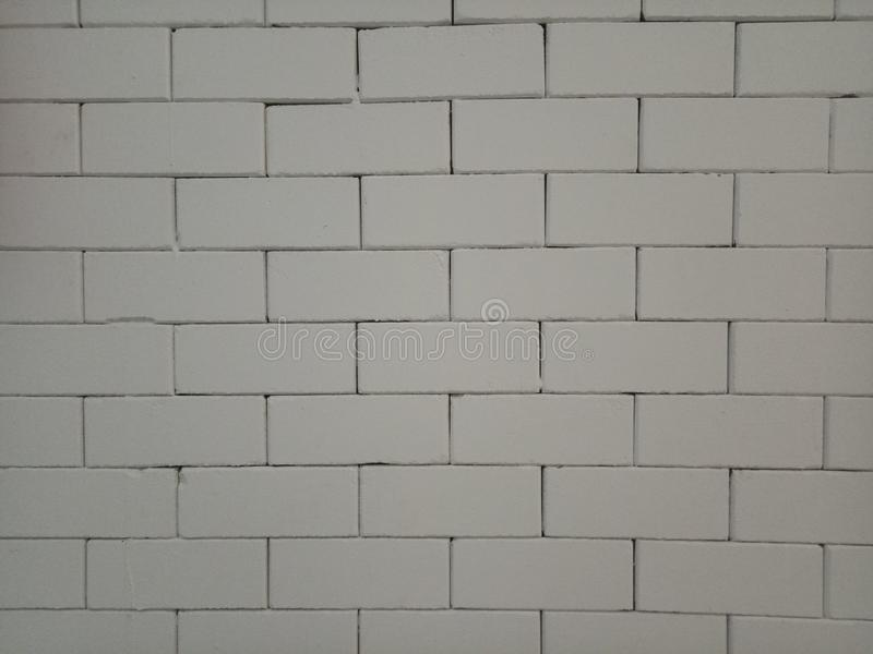 White brick wall pattern texture material surface background. Block white brick wall pattern texture material surface background royalty free stock photo