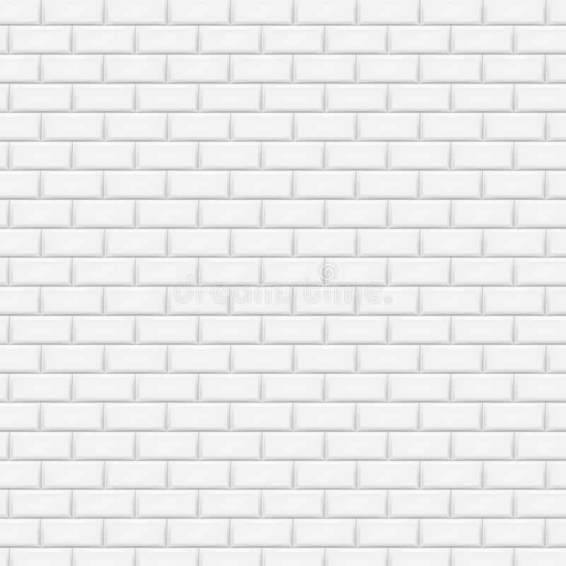 White brick wall in subway tile pattern. Vector illustration. Eps 10 vector illustration