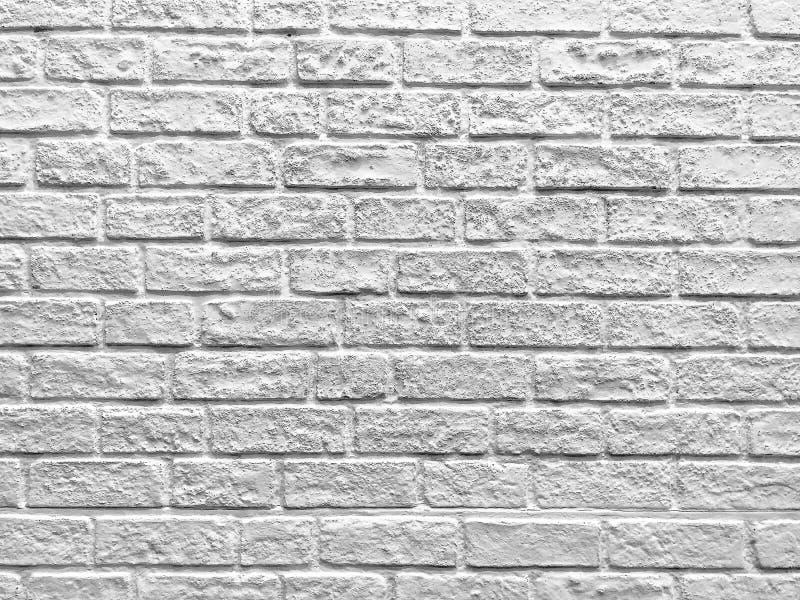 White brick wall texture background royalty free stock photo
