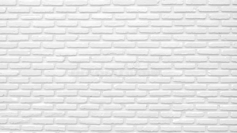 White brick wall texture background with space for text. White bricks wallpaper. Home interior decoration. Architecture concept.  royalty free stock photos