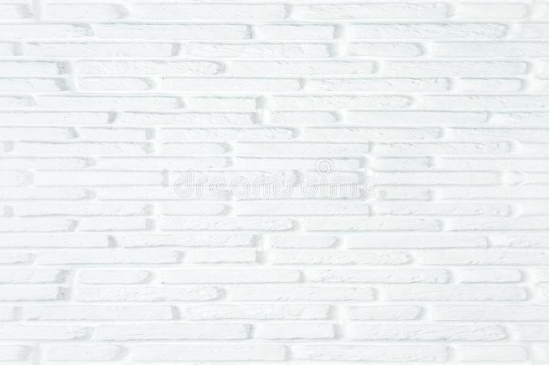 White brick wall texture background for stone tile block painted in grey light color wallpaper modern interior or exterior and royalty free stock photos