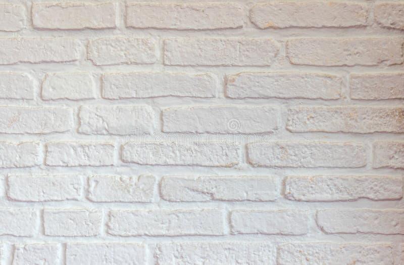 White brick wall  texture background stock photo