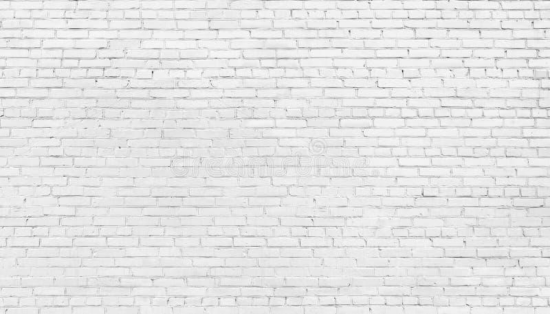 White brick wall background, texture of whitened masonry royalty free stock photos