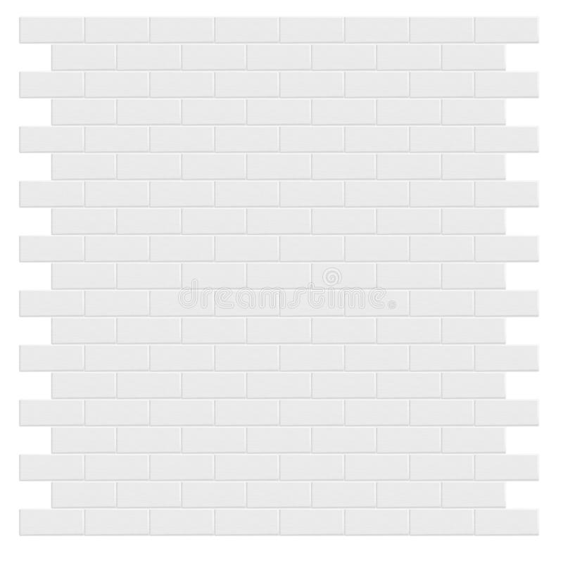 White brick wall. vector illustration royalty free stock photo