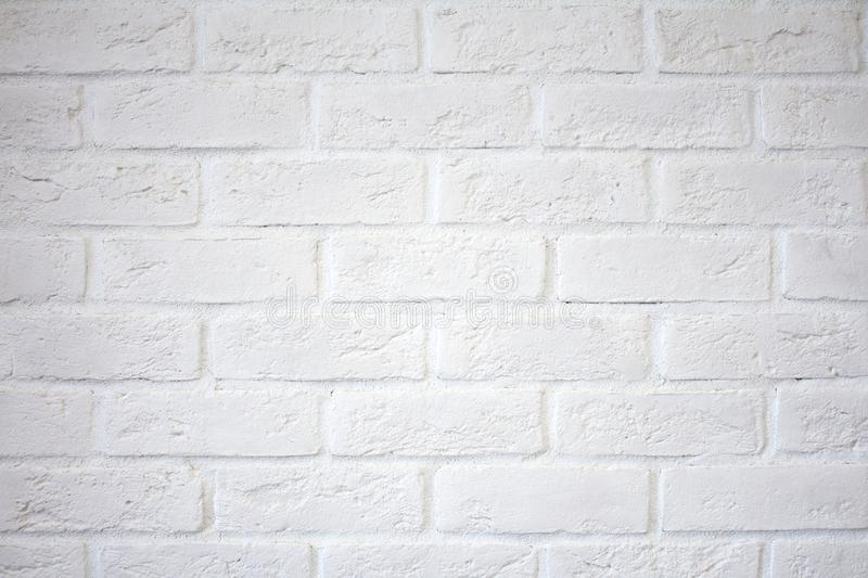 White brick wall. White brick wall. stock photography