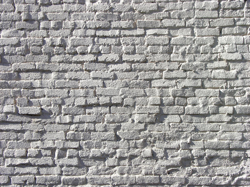 White Brickwork in High Relief stock images