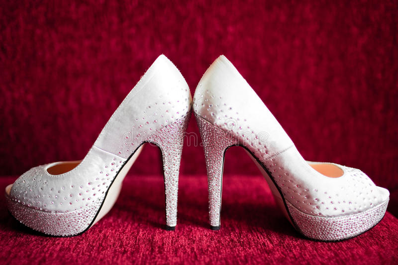 Download White brides shoes stock image. Image of marry, sensuality - 24818815