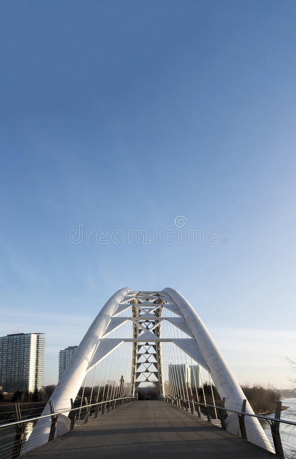 White Bridge Under Blue Sky stock image