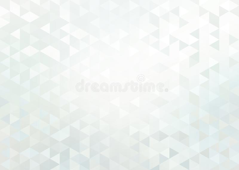 White brilliance triangle crystals abstract pattern. Subtle light mosaic background. Background or texture is the best illustration for design. Decorative vector illustration